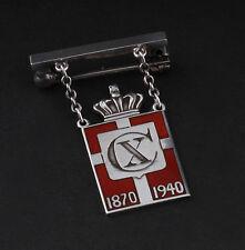 Georg Jensen Enamel Sterling Silver Pin from 1940. King Mark. Rare