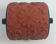 Stampin' Up! PETALS Jumbo Wheel Rubber Stamp Flowers Spirals Dots Border RETIRED