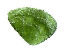 Schöner Moldavit, Impaktit, durch Meteorit entstanden, Heilstein, 23x16x8mm 2,8g