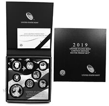 2019 S Us Limited Edition Silver Proof 8 Coins Set Ogp (First all .999 silver)