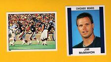 1988 Panini JIM MCMAHON Chicago Bears Sticker + Team Sticker