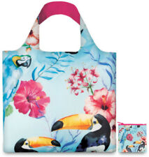 BN LOQI QUALITY REUSABLE SHOPPING BAG POUCH POCKET GROCERY BEACH GIFT WILD BIRDS
