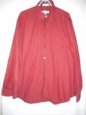Geoffrey Beene  Sz XXL Mens Rust Orange long sleeve Button front Shirt