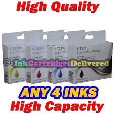 4 HQ Ink Cartridges T1291 T1292 T1293 T1294 (T1295) for EPSON Printers Non-OEM