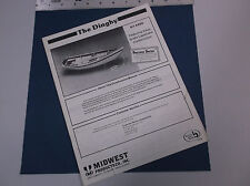 VINTAGE MIDWEST PRODUCTS WOODEN BOATS THE DINGHY KIT #950 CATALOG *VG-COND*