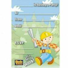 New Bob the Builder Boys Birthday Party Invites, pad of 20, envelopes supplied