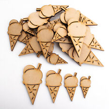 Wooden MDF Shapes Crafts Ice Cream Scrapbook Embellishments  Decoration