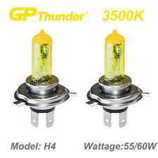 GP Thunder 3500K Super Gold Xenon Halogen Light Bulbs Pair 9003 HB2 H4 55W 60W