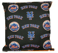 Mets Pillow NY Mets New York Mets MLB Pillow Handmade in USA Met Baseball Pillow