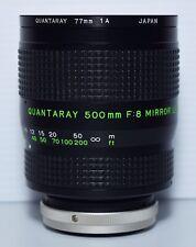 Quantaray FD 500mm F/8 NFD Reflex Mirror MF Lens for Canon FD mount SLR