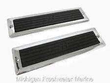 Bayliner Boat Boarding Step Pads & Plates Perko Chrome Black Rubber 8.25 x 2.25