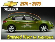 Smoked Black Window Visor Sun Rain Vent 4P EMS for Chevy Hatchback CRUZE 2011~15