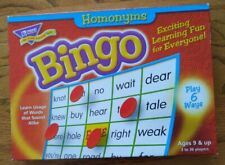 Homonyms Bingo Game,Trend 3-36 Players, 36 Cards/Mats T-6132 mint condition