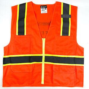 High Visibility Safety Vest Survo Illuminator MCR River City 2XL Class II (3pk)