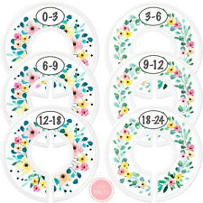 6 Baby Closet Dividers Rustic Floral Nursery Closet Dividers for Baby Clothes 6