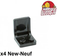 Lego - 4x Minifig utensil siège chaise seat 2x2 noir/black 4079b NEUF