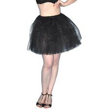 Tulle Skirt with 5 Layers Size S-M Bauschiger Tutu Petticoat Carnival Mini Skirt