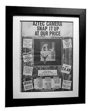 AZTEC CAMERA+High Land+Rain+POSTER+AD+RARE ORIGINAL 1983+FRAMED+FAST GLOBAL SHIP