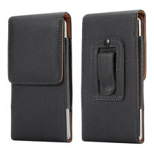 Leather Belt Holster Magnetic Flip Pouch Stitch Case Cover Samsung S20+ Ultr