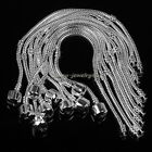 10pcs Silver Plated 3mm Snake Chain Charm Bracelets Fit European Beads SF68