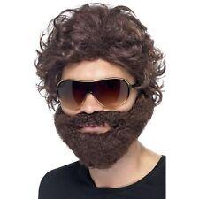 Alan Hangover Brown Stag Do Kit Wig Beard Sunglasses Mens Fancy Dress Accessory