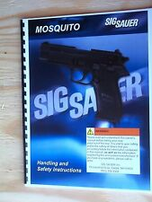 SIG SAUER MOSQUITO 26 PAGE SAFETY & INSTRUCTION LARGE  PRINT MANUAL 06/2001