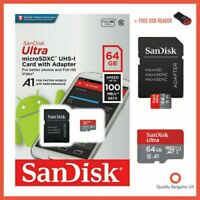 SanDisk Ultra Micro SD 64GB Class 10 SDHC SDXC Memory Card & Adapter UK SELLER