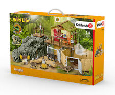 Schleich 42350 Croco Jungle Research Station Set (Wild Life) inc Plastic Figures