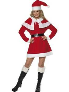 MISS SANTA FLEECE COSTUME, CHRISTMAS FANCY DRESS, LARGE 16-18, WOMENS