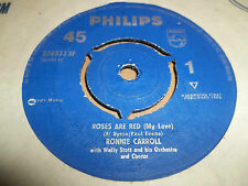 "RONNIE CARROLL "" ROSES ARE RED "" 7"" SINGLE 1962 VERY GOOD+"