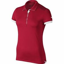 NWT NIKE GOLF Victory Colorblock POLO Team Crimson 725583-613 Womens M