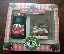 Smucker's Berry Patch Bears Collectible Figurine Raspberry Tea Party NOS NIP