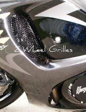 2012 HAYABUSA GSXR 1300 BLACK POWDER COATED FAIRING GRILLS SCREENS VENTS MESH