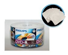 300 PHILIPS Logo 16X Blank DVD-R Disc + 100 FREE Paper Sleeves