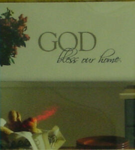 Brewster GOD bless our home Black Quick Wall Quotes - 99462