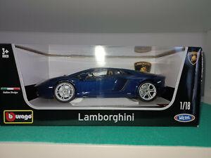 1/18 Burago Lamborghini Aventador LP 700-4 (Dark Bleu)(Nuova in box originale)