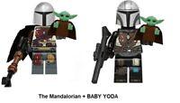 2 Pcs/lot The Mandalorian +BABY YODA CUSTOM Minifigure STAR WARS Building Blocks