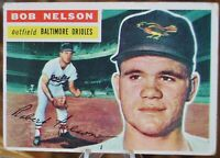 1956 Topps Baseball Card #169 Bob Nelson, Baltimore Orioles - VG