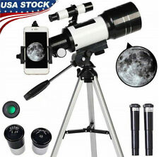 70mm 150X Professional Astronomical Telescope Refractor w/ Tripod Phone Adapter