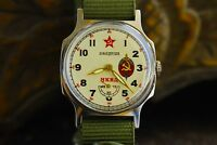 Rare Watch Pobeda NKVD Soviet Police USSR Wristwatch for Men + New Strap