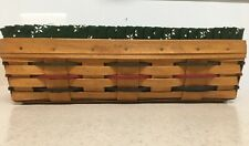 Longaberger Woven Traditions Bread Basket with Green Liner, & protector
