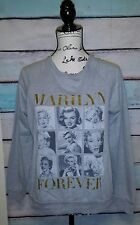 Marilyn Monroe Gray Sweatshirt Womens Medium Gold  RED CARPET NOIR  FOREVER  M