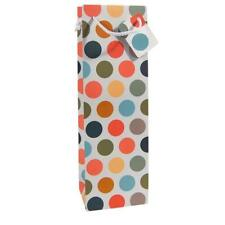 Wine Champagne Bottle Gift Bag Multicoloured Spot Card Rope Handle