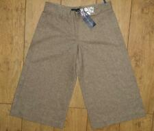 Bnwt Women's French Connection Wool Blend Stretch Shorts Size 8 New Brown