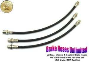 BRAKE HOSE SET Hudson DeLuxe Six, Series 40P, 10P, 20P - 1940 1941 1942