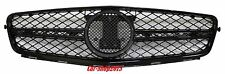 M-Benz W204 C250/C300/C350 Sedan Bright-Black C63 AMG Look Front Grille 08-14