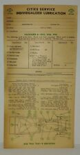 "1933 1934 1935 PACKARD (8 CYL.)  ""CITIES SERVICE""  LUBRICATION RECORD"