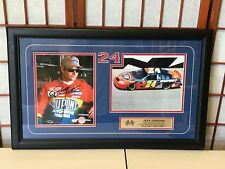 JEFF GORDON 1993 ROOKIE OF THE YEAR HAND SIGNED FRAMED PICTURE W/ COA DUPONT #24