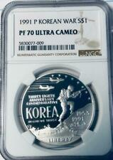 1991-P Korean War Silver Dollar Commemorative - NGC PF-70 Ultra Cameo