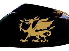 Cymru Welsh Dragon Car Sticker Wing Mirror Styling Decals (Set of 2), Gold